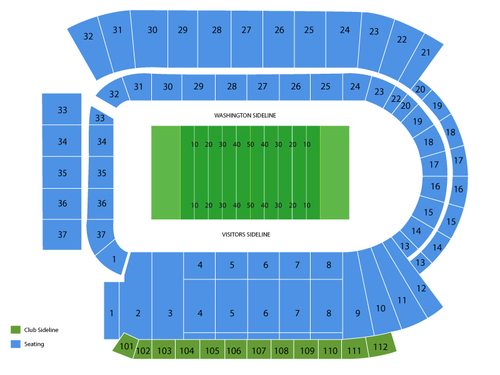 Washington State Cougars Football Season Tickets Venue Map