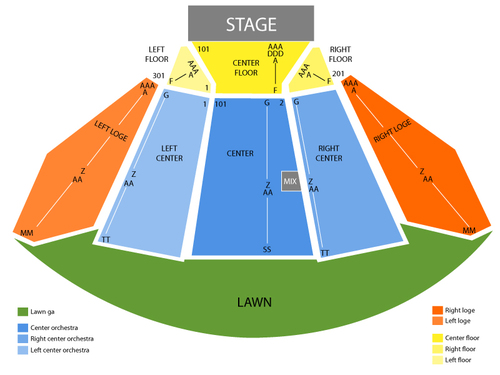 Merriweather post pavilion seating chart events in columbia md