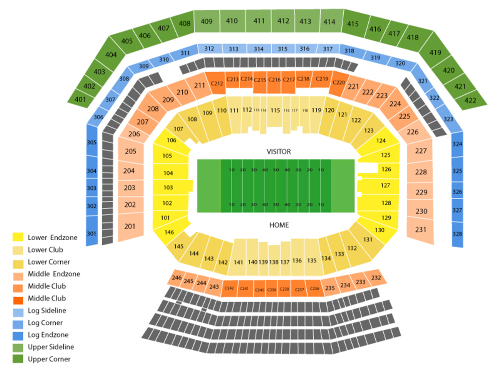 NFL Preseason: Dallas Cowboys at San Francisco 49ers Venue Map