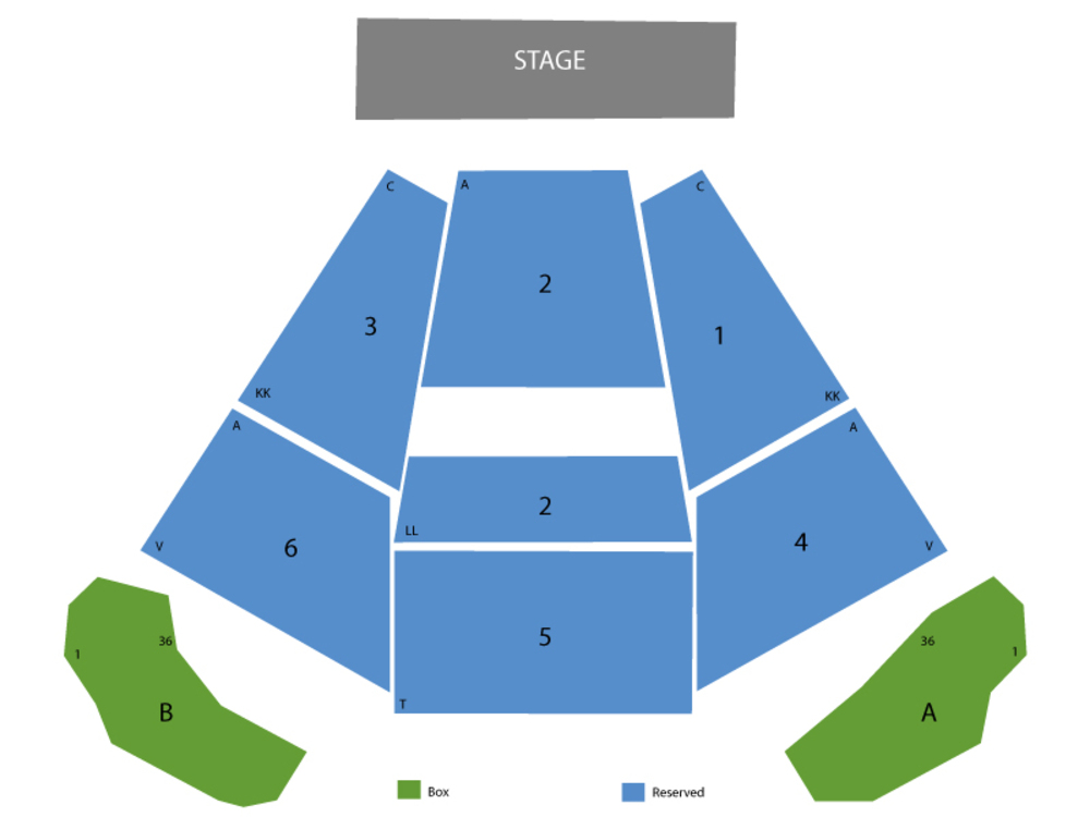 Seating Chart for End Stage Seating Chart at Bank of America Pavilion