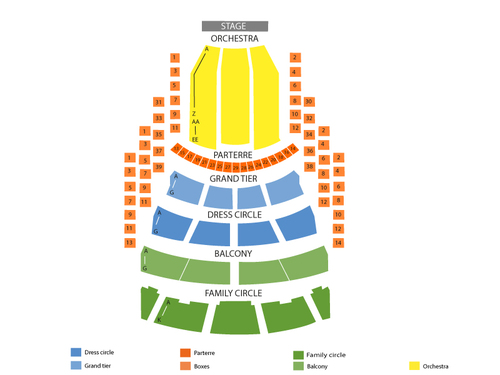 American Ballet Theatre: Don Quixote Venue Map