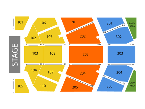 Josh Groban Venue Map