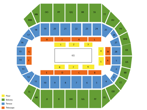 Mississippi Coast Coliseum Seating Chart