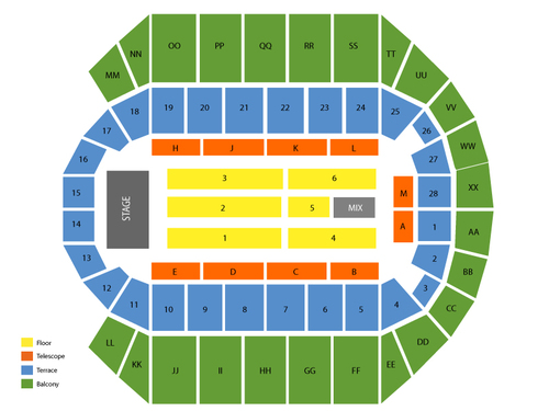 Cher Venue Map