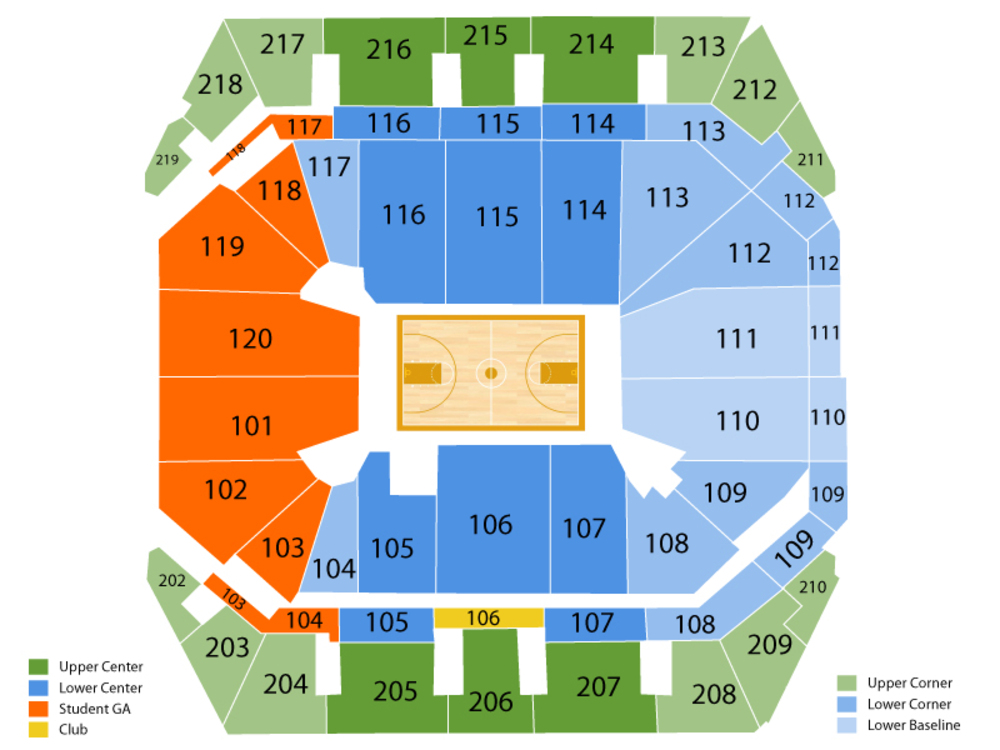 LSU Tigers at Missouri Tigers Basketball Venue Map