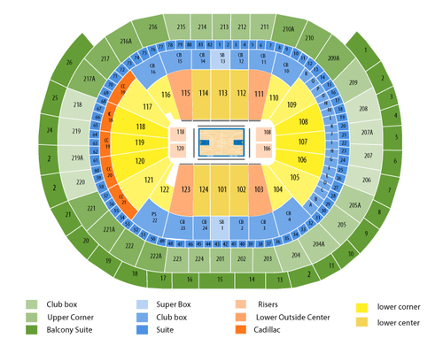 Oklahoma City Thunder at Philadelphia 76ers Venue Map