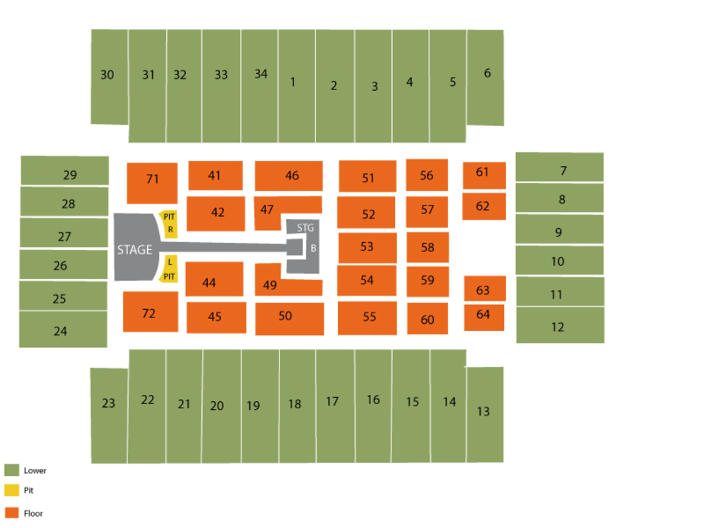 Fargodome seating map and tickets