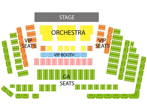 Versailles Theater - Riviera Hotel & Casino Seating Chart