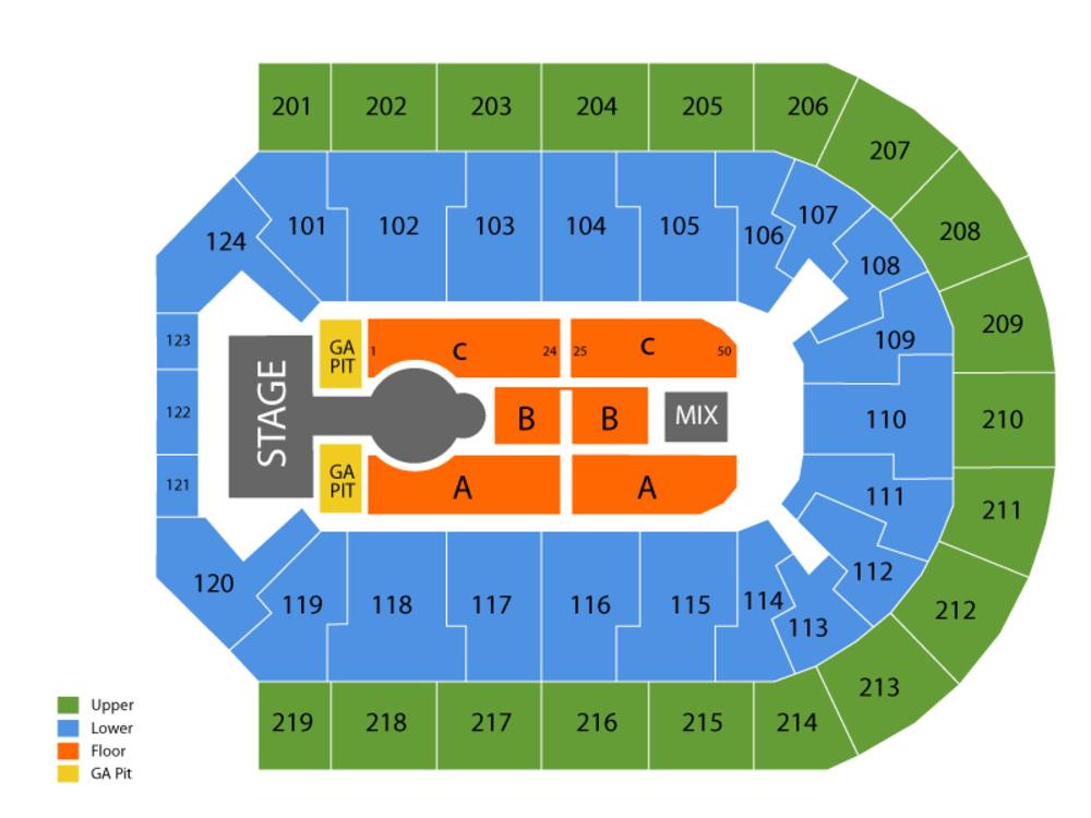 Denny Sanford Premier Center Seating Chart Cheap Tickets