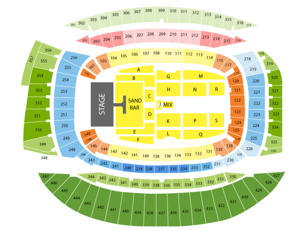 Kenny Chesney (Rescheduled from 07/25/2020) Venue Map