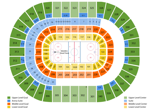 New Jersey Devils at New York Islanders Venue Map