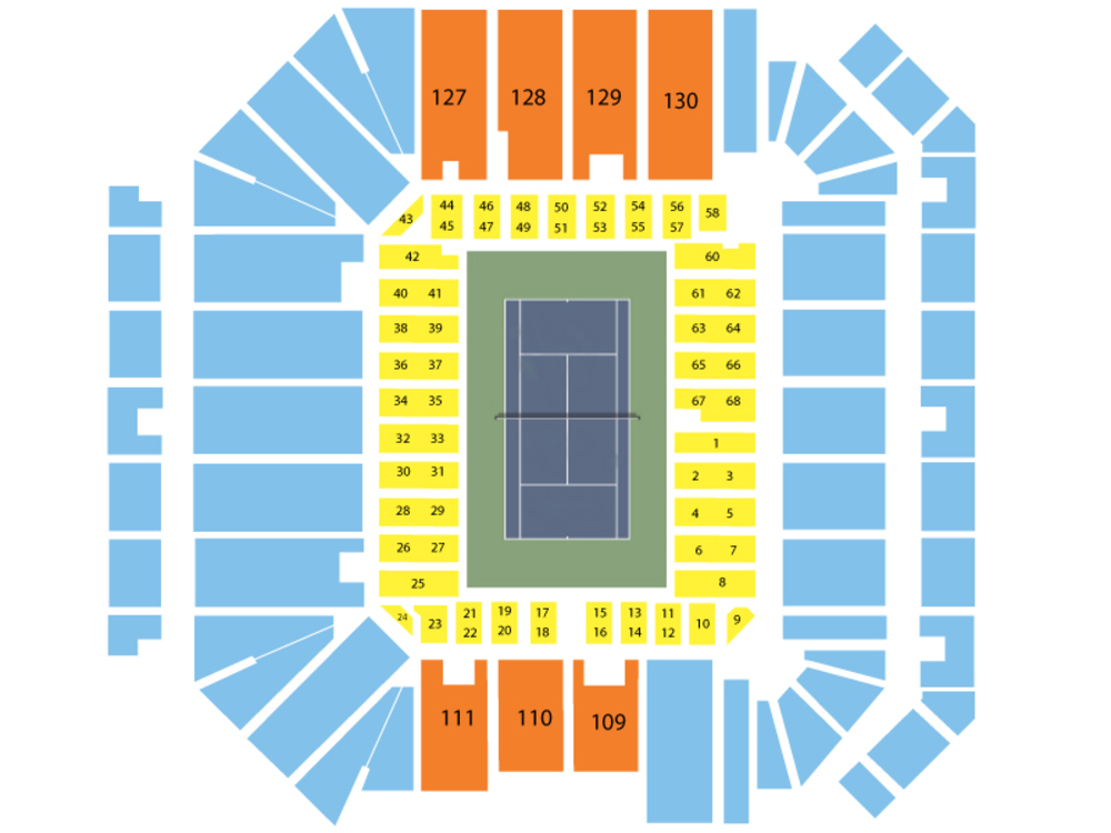 US Open Tennis Championship: Armstrong Stadium - Session 3 Venue Map
