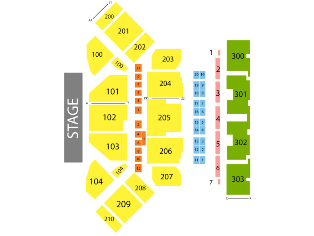 Toyota Oakdale Theatre seating map and tickets
