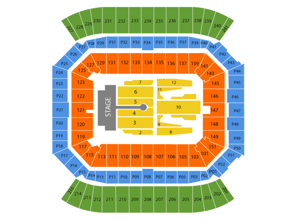 Camping World Stadium seating map and tickets