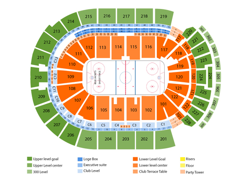 New York Islanders at Columbus Blue Jackets Venue Map