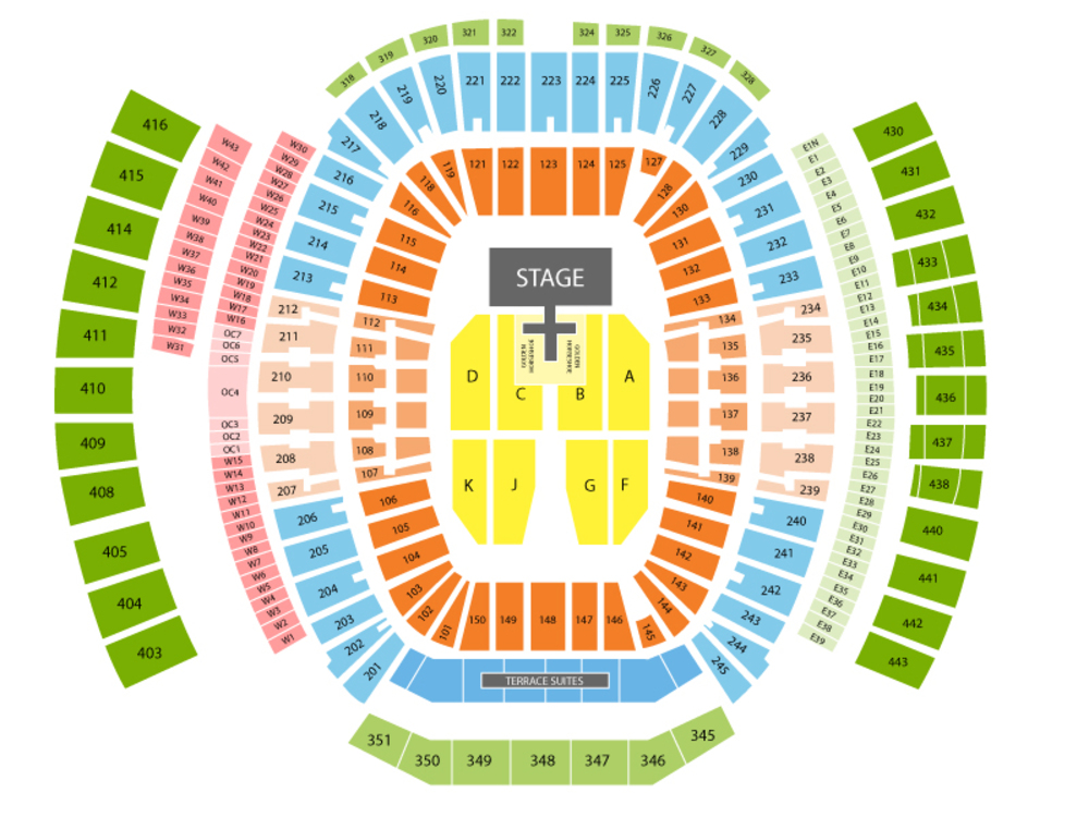 Hella Mega Tour: Green Day with Fall Out Boy and Weezer Venue Map