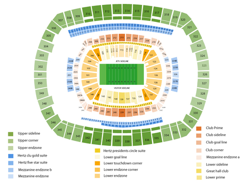 Super Bowl Hotel Rooms Venue Map