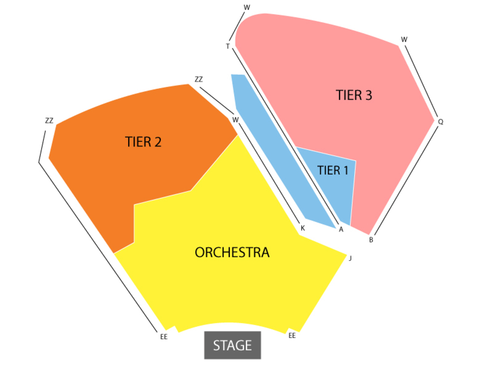 American Ballet Theatre - The Nutcracker Venue Map