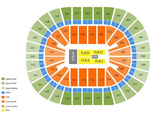 New Orleans Arena Seating Chart
