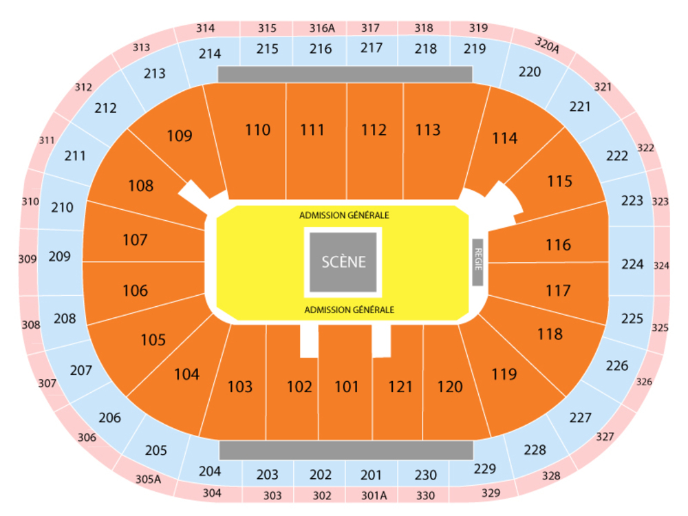 Centre Videotron seating map and tickets