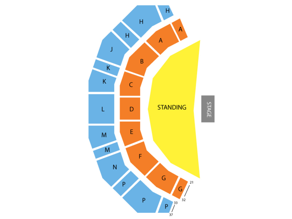 Ariana Grande Venue Map