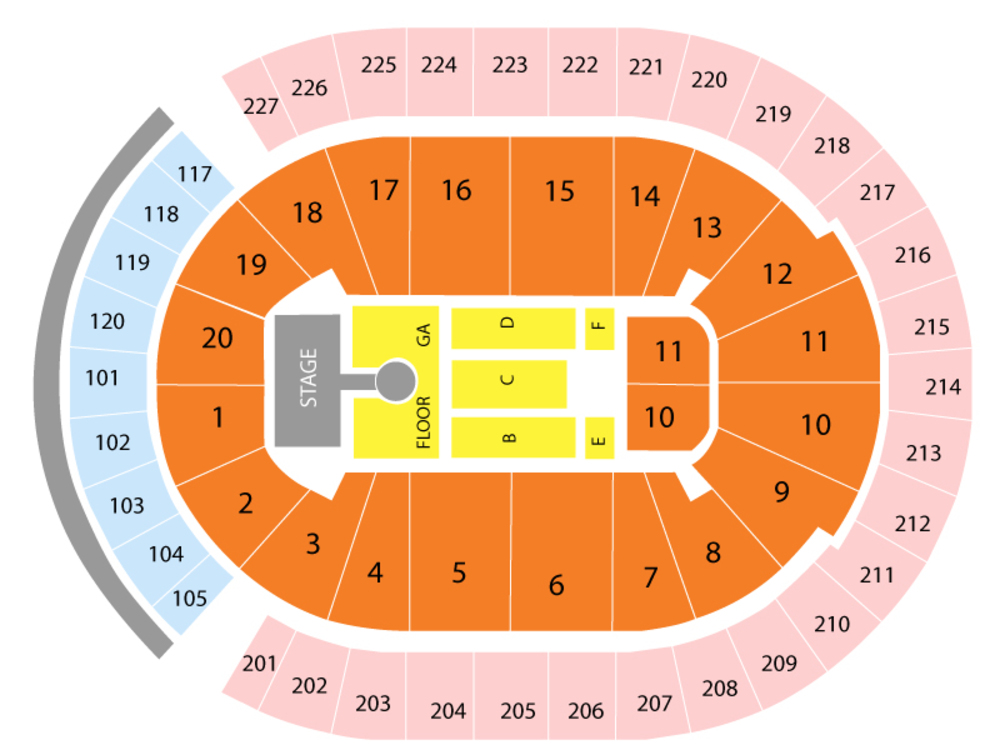 George Strait with Caitlyn Smith Venue Map