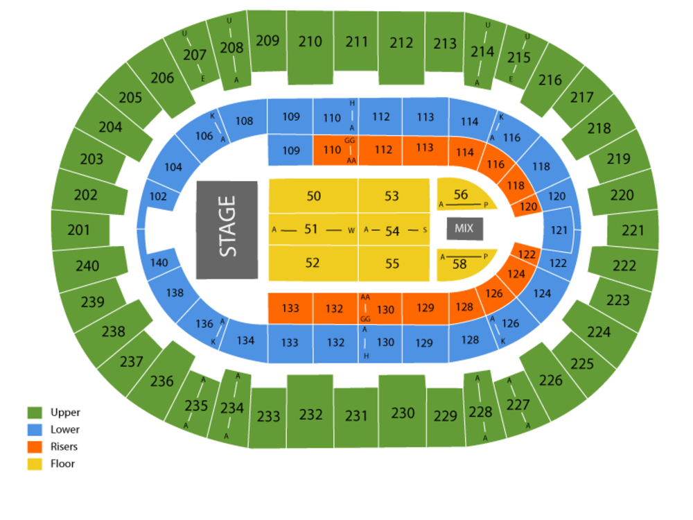 North Charleston Coliseum seating map and tickets