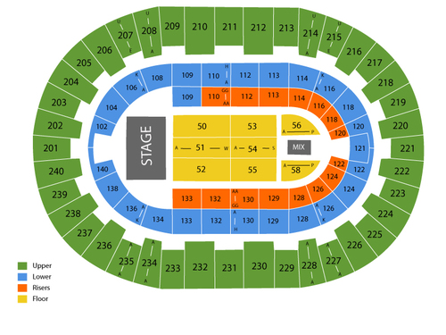 North Charleston Coliseum Seating Chart