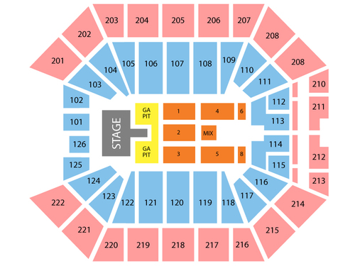 Golden 1 Center Seating Chart Events In Sacramento Ca