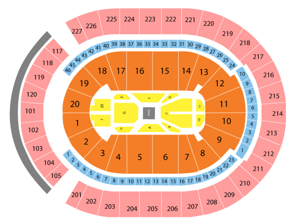 Canelo Alvarez vs Daniel Jacobs Venue Map