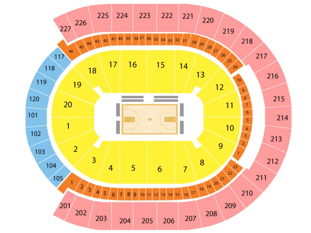 NBA Preseason: Golden State Warriors at Los Angeles Lakers Venue Map