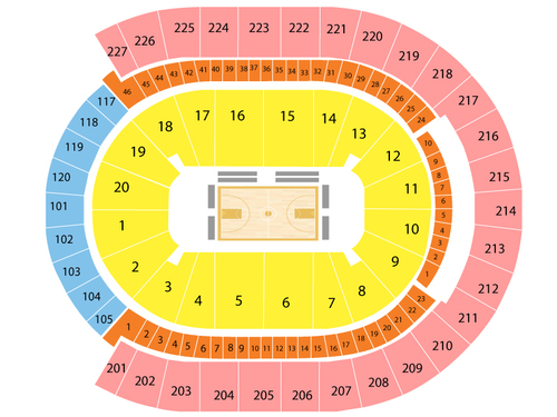 t mobile arena seating chart