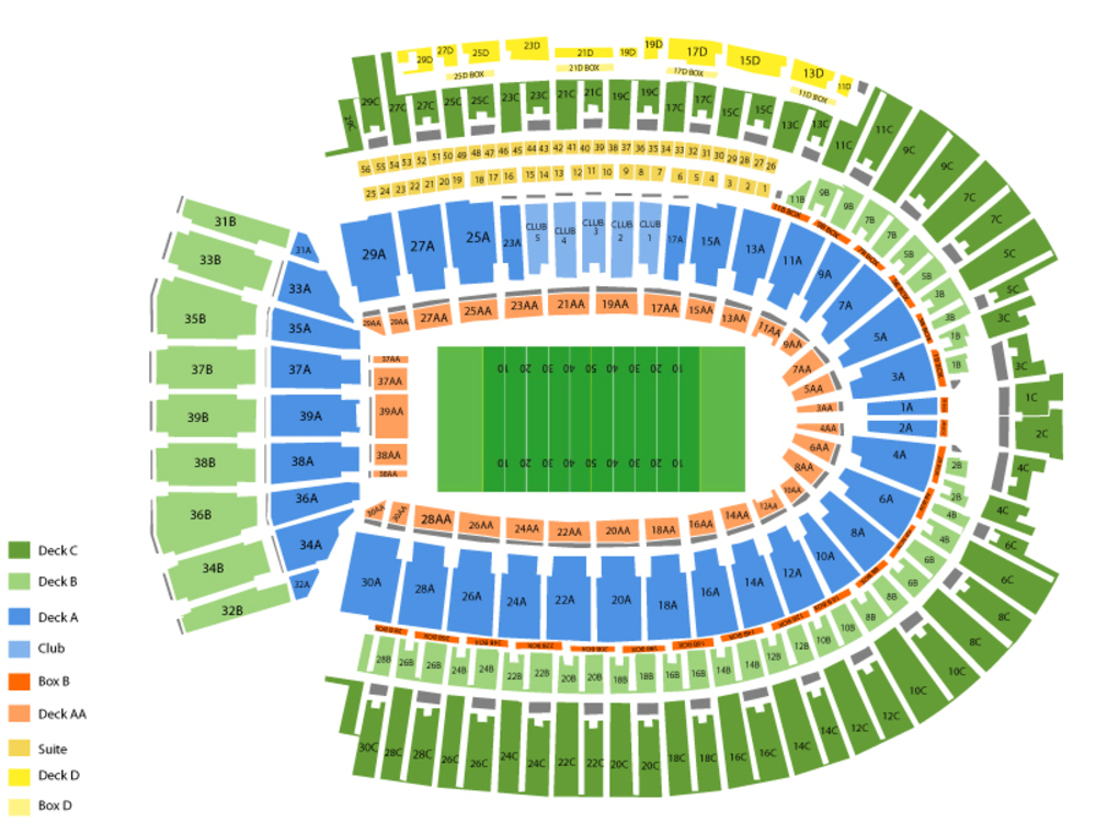 Penn State Nittany Lions at Ohio State Buckeyes Football Venue Map