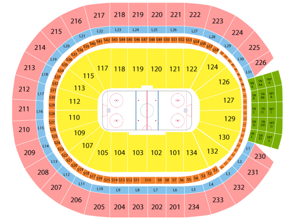 Washington Capitals at Edmonton Oilers Venue Map