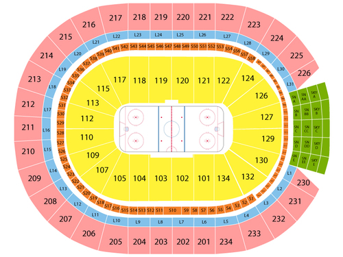 Florida Panthers at Edmonton Oilers Venue Map