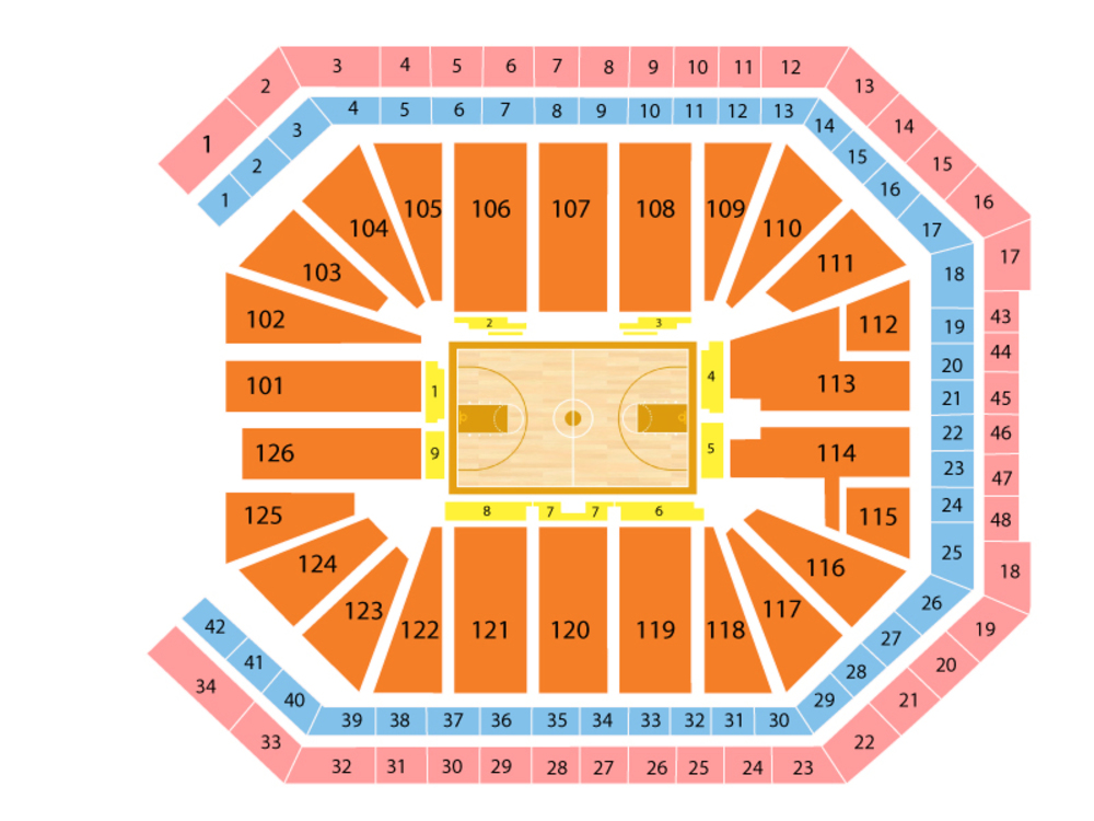 Los Angeles Lakers at Sacramento Kings Venue Map