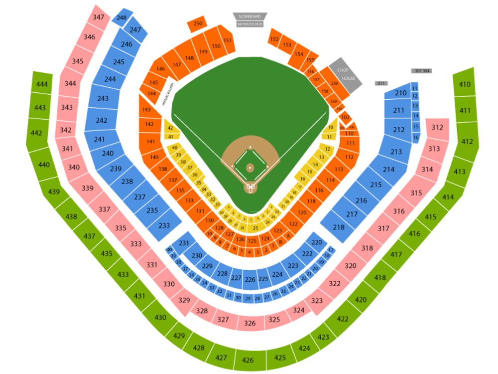 Chicago Cubs at Atlanta Braves (Rescheduled from May 17th, 2018) Venue Map