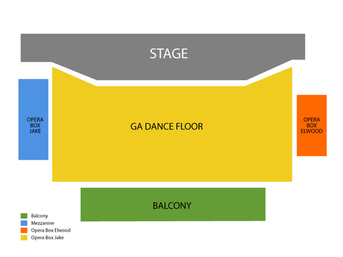 Led Zepagain Venue Map