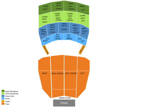Orpheum Theatre - Sioux City Seating Chart