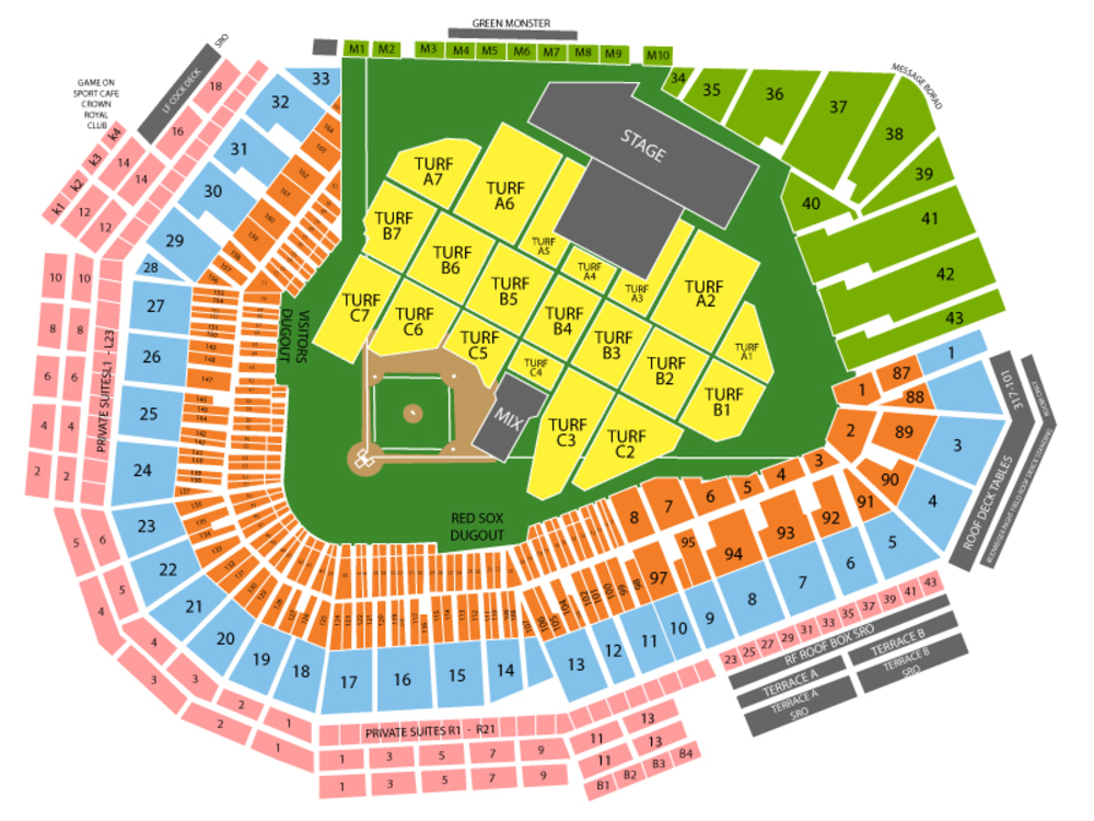 Lady Gaga (Rescheduled from 08/05/2020) Venue Map