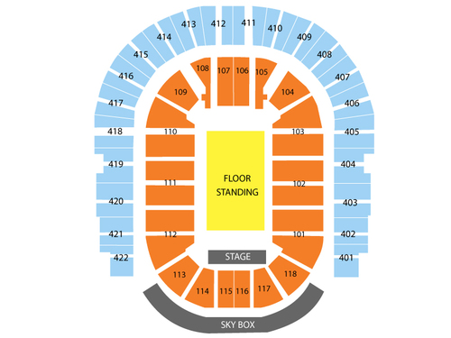 O2 Arena (London) Seating Chart