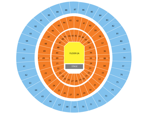Frank Erwin Events Center Seating Chart