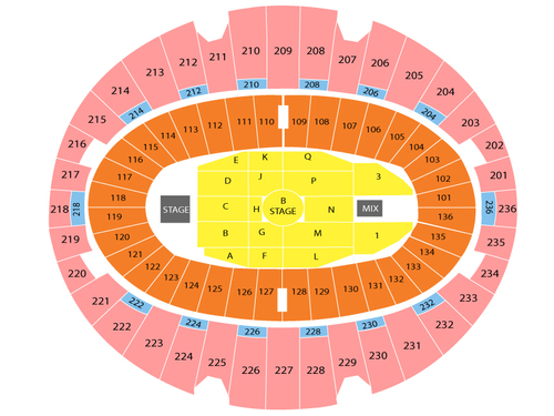 The Forum Seating Chart