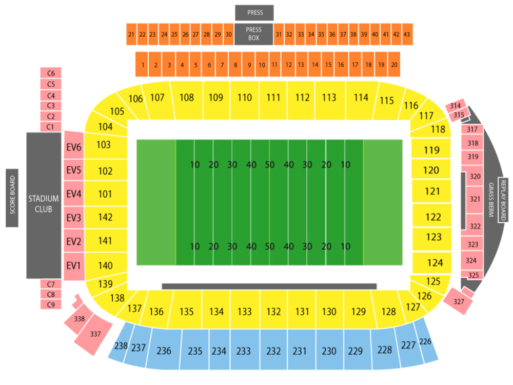 Oakland Raiders at Los Angeles Chargers Venue Map