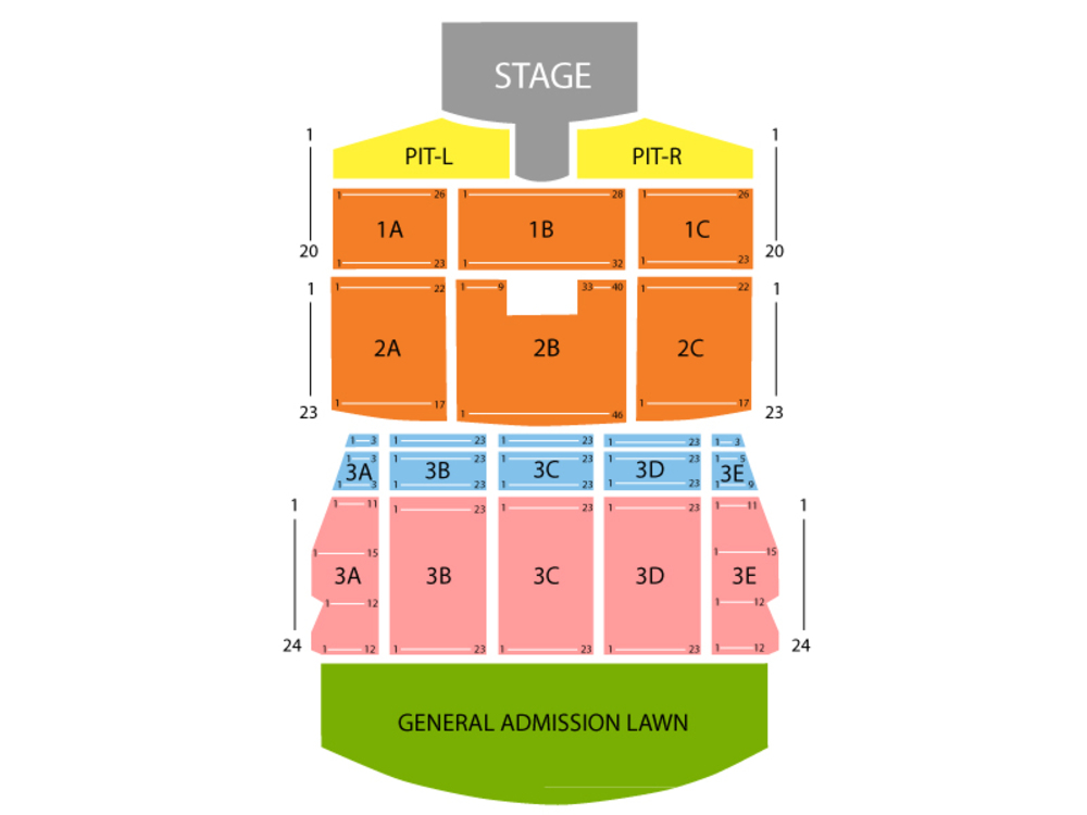 Thomas Rhett (Rescheduled from 5/29/2020 and 09/25/2020) Venue Map