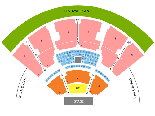 Coastal Credit Union Music Park at Walnut Creek Seating Chart