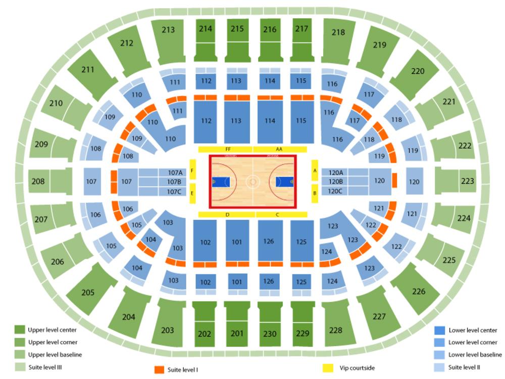 Miami Heat at Detroit Pistons Venue Map