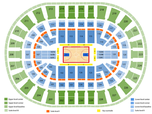 Dallas Mavericks at Detroit Pistons Venue Map