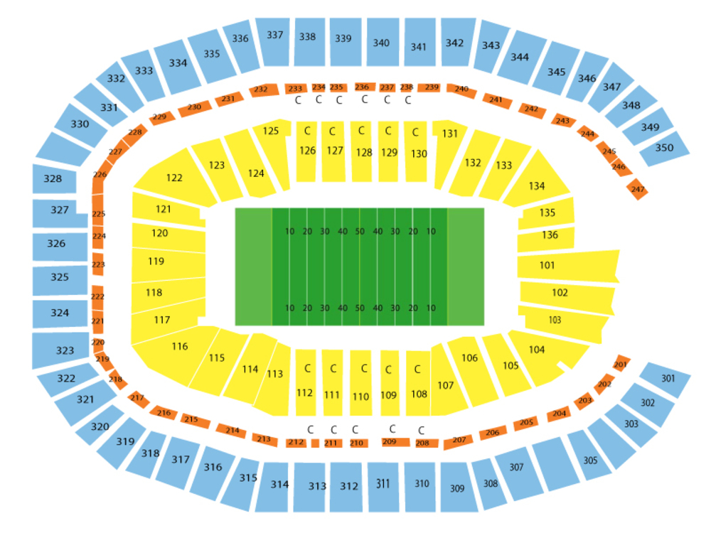 Carolina Panthers at Atlanta Falcons Venue Map