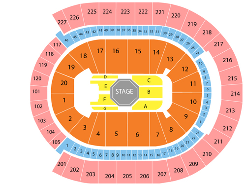 T-Mobile Arena Seating Chart